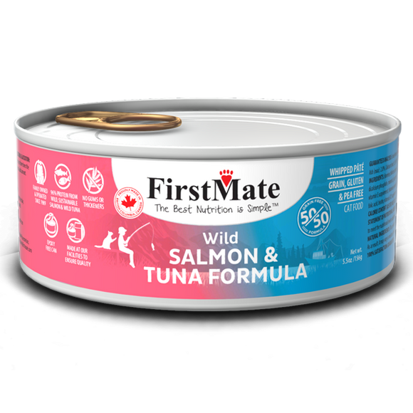 FirstMate Cat GF 50/50 Wild Salmon/Wild Tuna 24/5.5 oz
