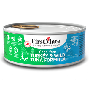 FirstMate Cat GF 50/50 Cage Free Turkey/Wild Tuna 24/5.5 oz