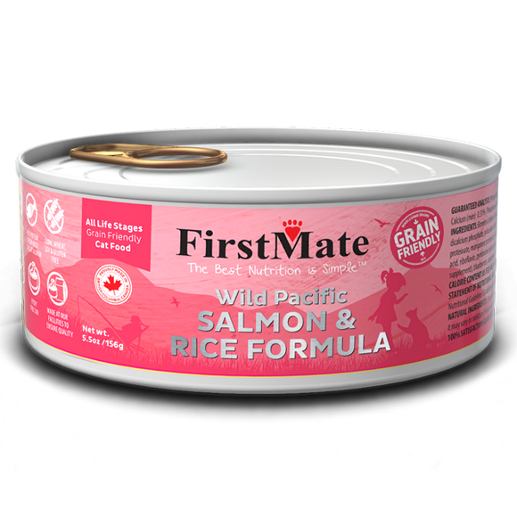 FirstMate Cat Grain Friendly Wild Salmon w/Rice 24/5.5 oz