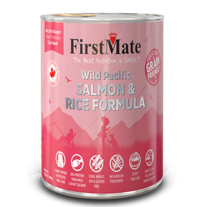 FirstMate Cat Grain Friendly Wild Pacific Salmon/Rice 12/12.2 oz