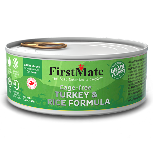 FirstMate Cat Grain Friendly Cage Free Turkey/Rice 24/5.5 oz