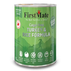 FirstMate Cat Grain Friendly Cage Free Turkey/Rice 12/12.2 oz