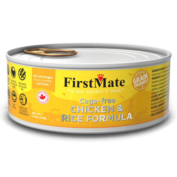 FirstMate Cat Grain Friendly Cage Free Chicken/Rice 24/5.5 oz