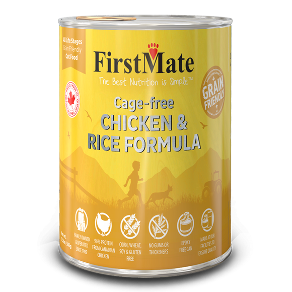 FirstMate Cat Grain Friendly Cage Free Chicken/Rice 12/12.2 oz