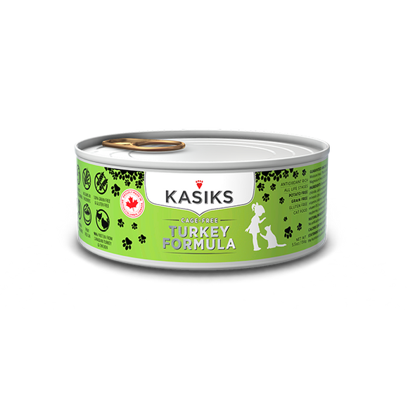Kasiks Cat GF Cage Free Turkey 24/5.5 oz