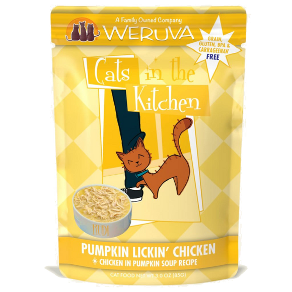 Weruva Cats in Kitchen Pumpkin Lickin' Chicken 12/85g Pouch