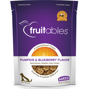 Fruitables Dog Pumpkin & Blueberry Crunchy Treats 198 g