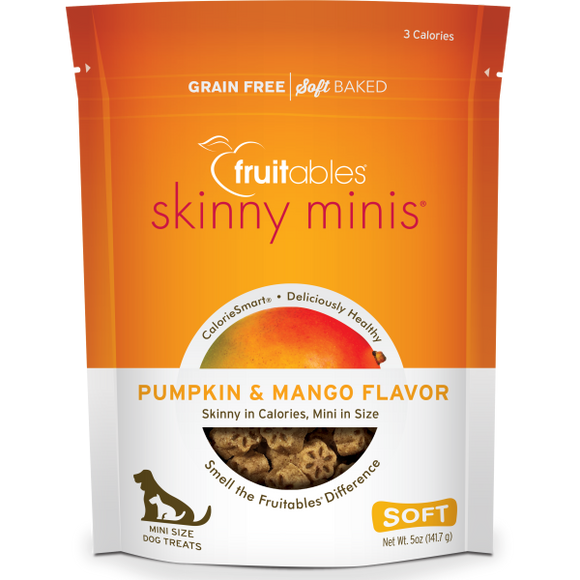 Fruitables Dog Skinny Minis Pumpkin/Mango Chewy Treats 141 g