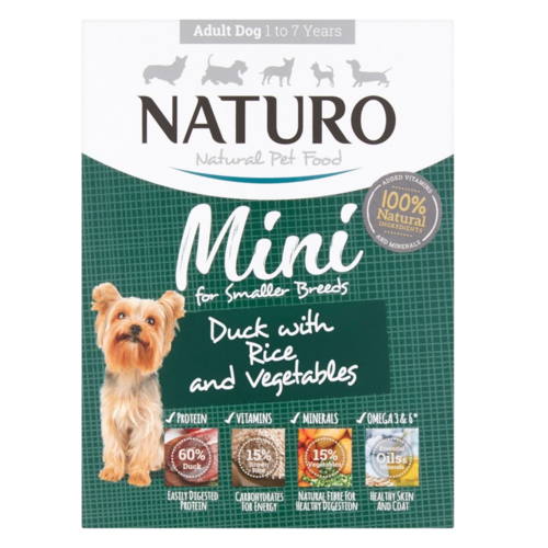 Naturo - Dog Trays - Adult Mini Duck & Rice with Veg (150g - Case of 7)