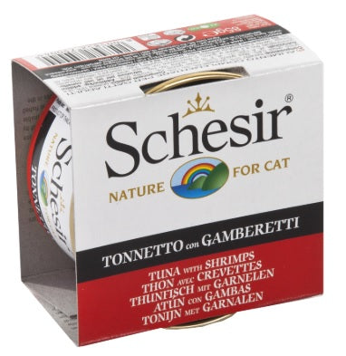 Schesir-Tuna with Shrimps Canned Cat Food
