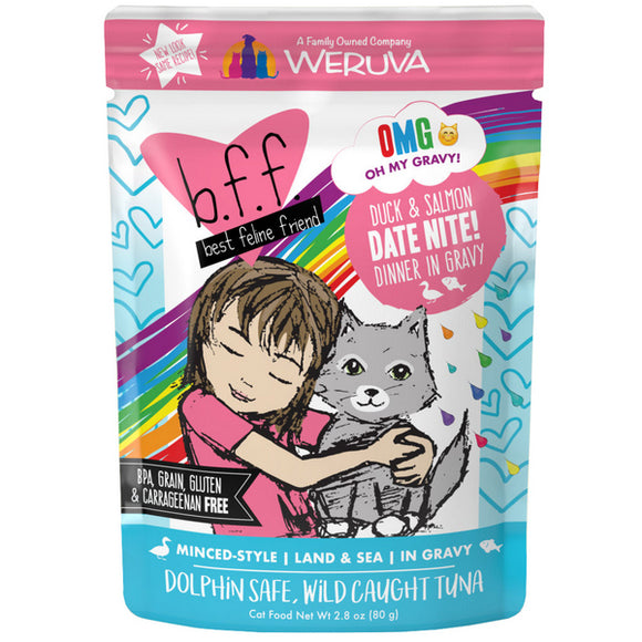 Weruva-OMG Date Night! - Duck & Salmon 12/80g Pouch