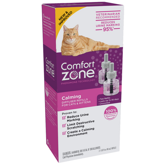 COMFORT ZONE CALMING DIFFUSER 2 REFILLS FOR CATS & KITTENS