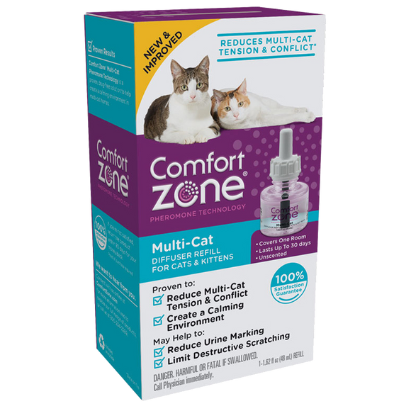COMFORT ZONE MULTI-CAT DIFFUSER REFILL FOR CATS & KITTENS