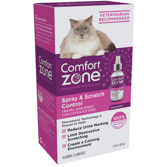 COMFORT ZONE SPRAY & SCRATCH CONTROL SPRAY FOR CATS & KITTENS