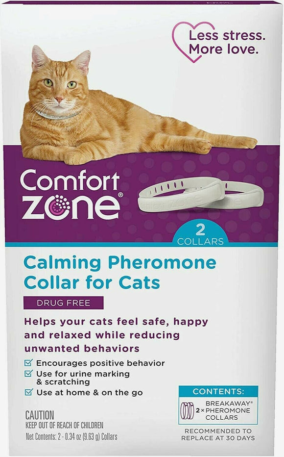 Comfort Zone Calming Pheromone 2 Collars For CATS