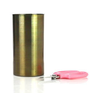 Metal Brushed Gold Cylinder Vase & Florist sheers -SOLD OUT