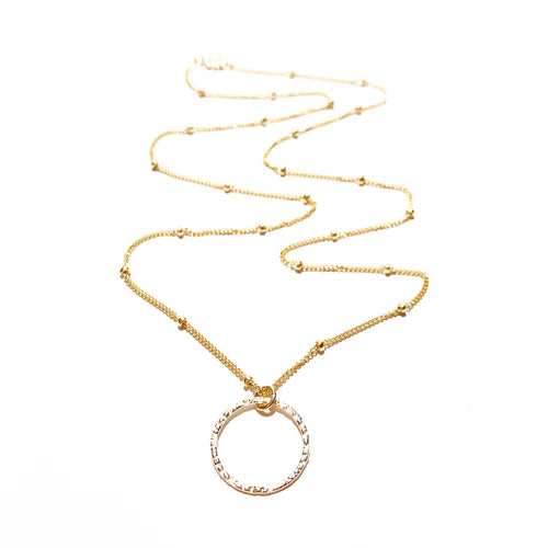 Satellite Chain Necklace with Sparkle Ring