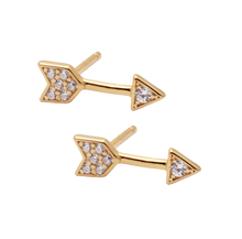 Load image into Gallery viewer, Arrow Zircon Stud SINGLE