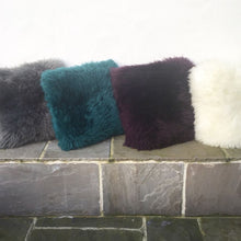 Load image into Gallery viewer, Coloured Sheepskin Double Faced Cushion