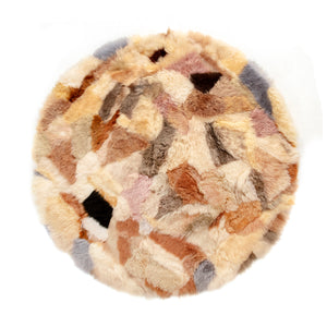 Crazy Paving Sheepskin Round Rug