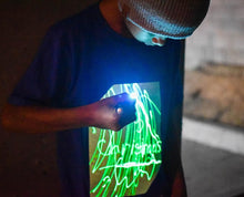 Load image into Gallery viewer, Interactive Green Glow T'Shirt