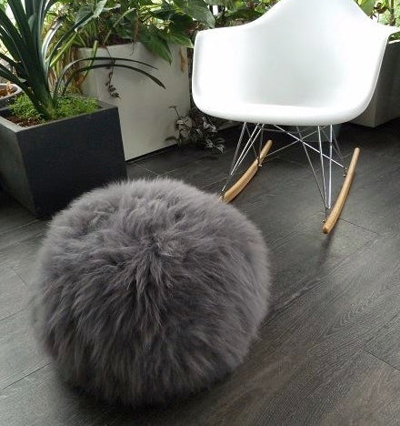 Coloured Sheepskin Pouffe
