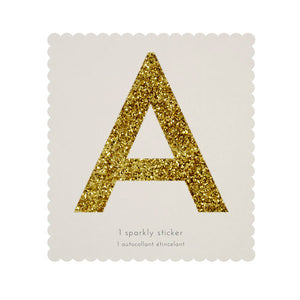 Large Glitter Letter/Number Stickers