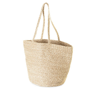 Basket Bag with Silver Fleck