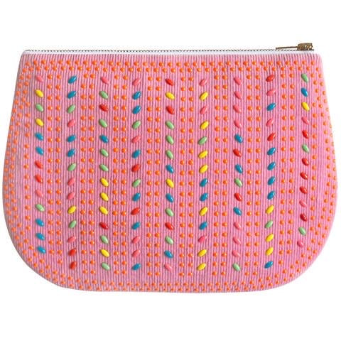 Pink Cord Play Purse Clutch