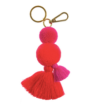 Load image into Gallery viewer, Pom Pom Tassel Keyring