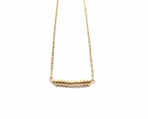 Gold Rondelles Chain Necklace