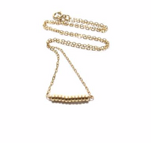 Load image into Gallery viewer, Gold Rondelles Chain Necklace