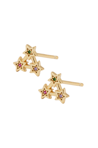Star Triangle Stud Earrings