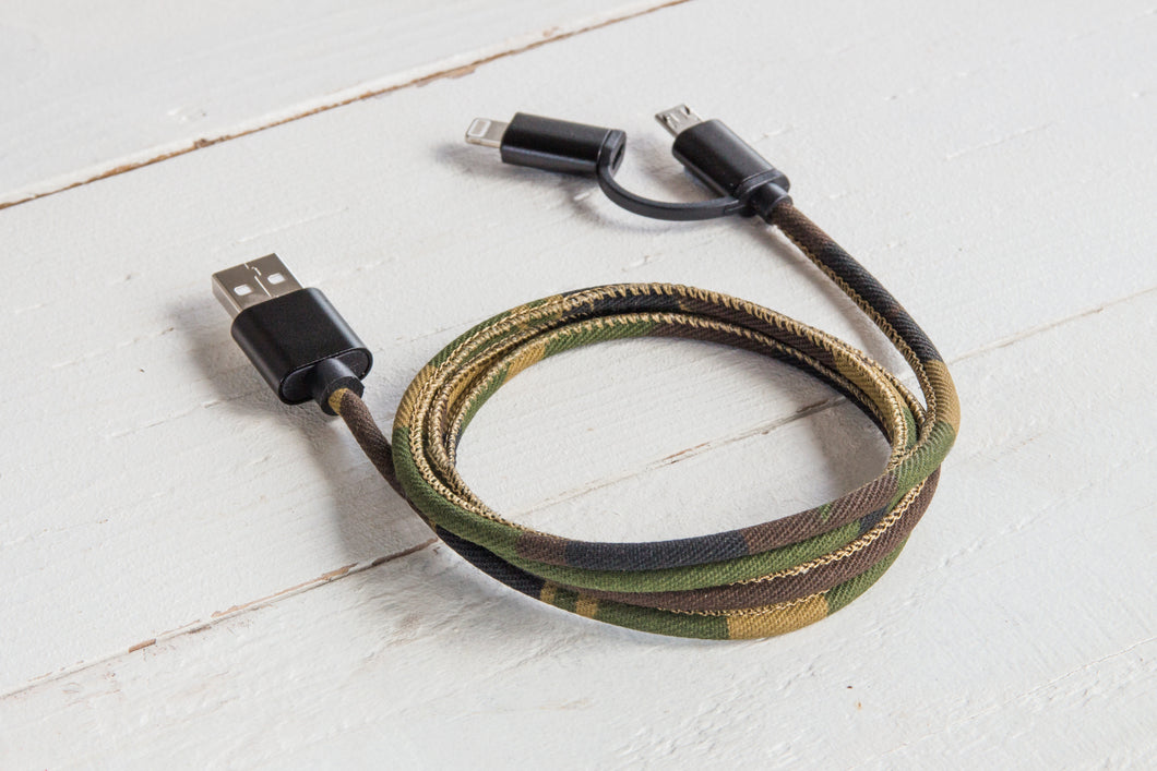 USB Charging Cable (Camo or Denim)