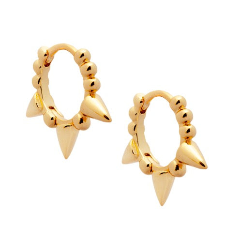 Chubby Spiked Huggie Earrings