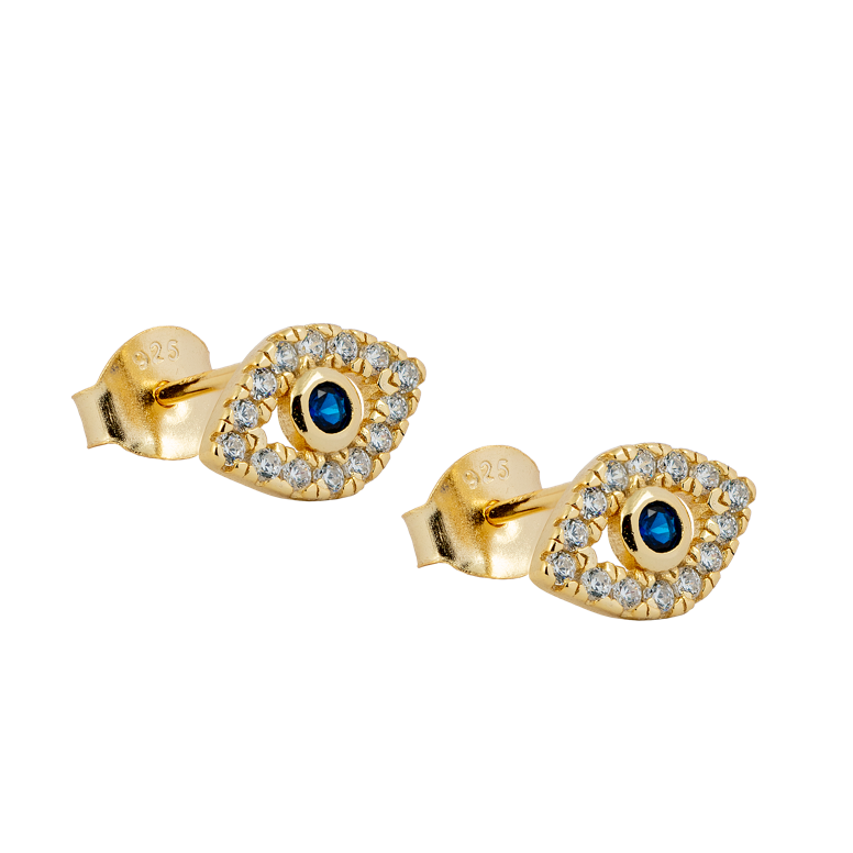 Evil Eye Stud Earrings