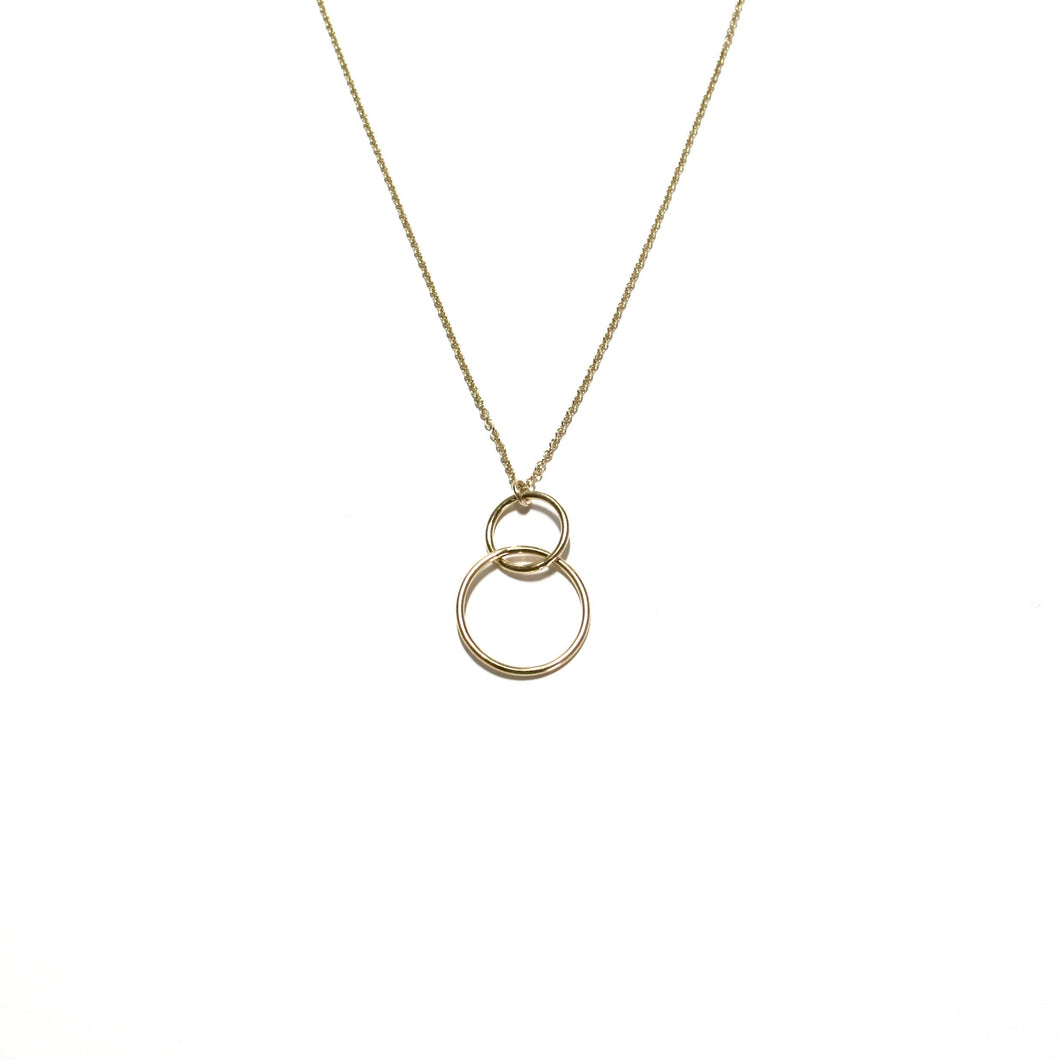 Double Link Ring Necklace