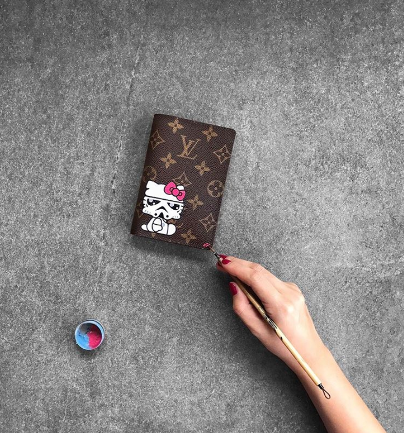 Paint on your Louise Vuitton?