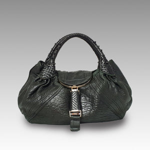 Fendi, Fendi Nappa Spy Black Bag - CHLOEZACH