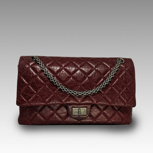 Chanel, Chanel Burgundy Reissue 2.55 Quilted Classic Leather 226 Flap Bag - CHLOEZACH