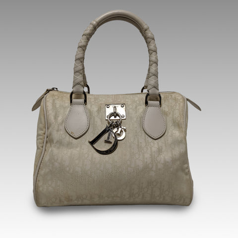 Christian Dior, Christian Dior Cream Boston Bag - CHLOEZACH