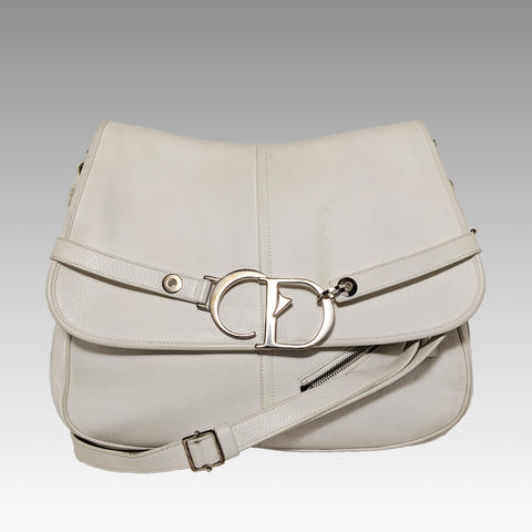 Christian Dior, Christian Dior White Leather Crossbody Bag - CHLOEZACH
