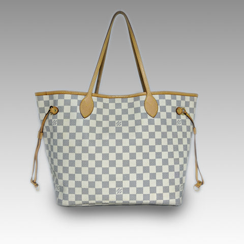Louis Vuitton, Louis Vuitton Neverfull MM Bag in Damier Azur - CHLOEZACH