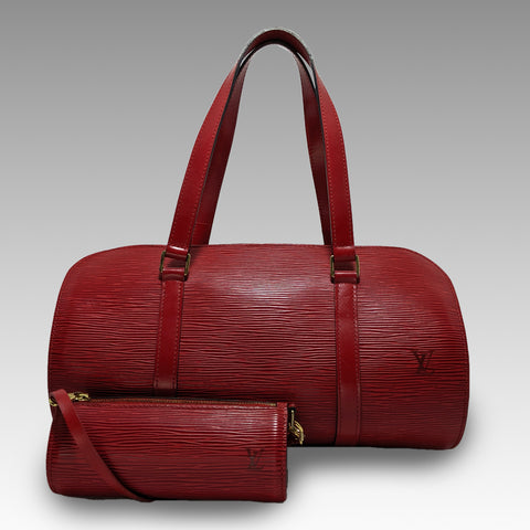 Louis Vuitton, Louis Vuitton Red Epi Papillon Bag with Pouch - CHLOEZACH