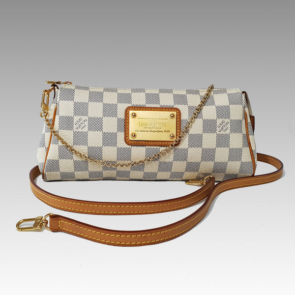 Chloezach, Louis Vuitton Damier Azur Canvas Eva Clutch Bag - CHLOEZACH