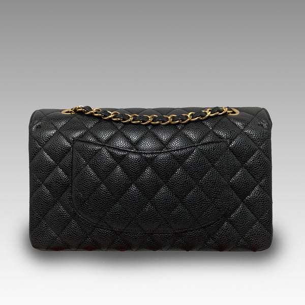 Chanel, Chanel Caviar Quilted Medium Double Flap Black Bag - CHLOEZACH