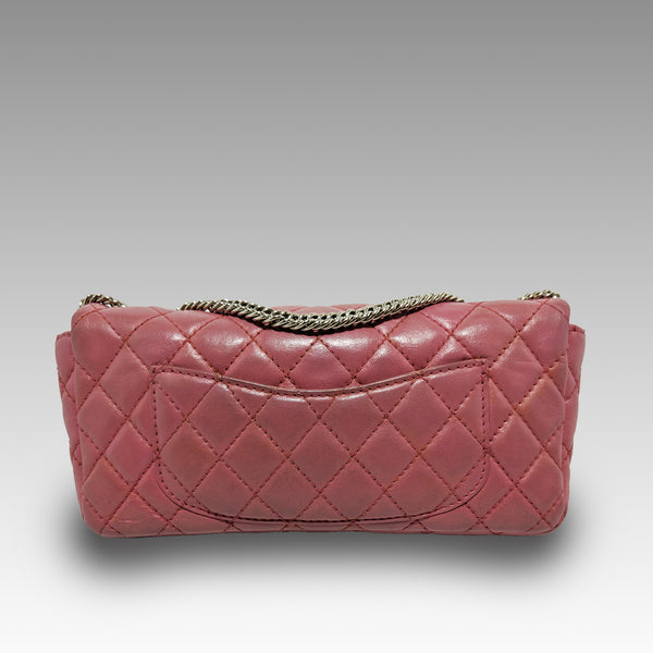 Chanel, Chanel Glazed Lambskin East/West Classic Flap Bag in Pink with Bijoux Chain - CHLOEZACH