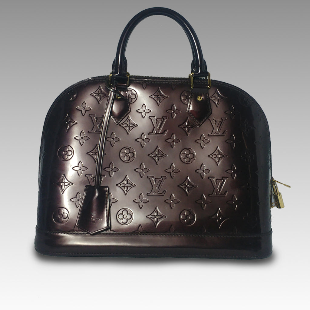 Louis Vuitton, Louis Vuitton Amarante Monogram Vernis Alma PM Bag - CHLOEZACH