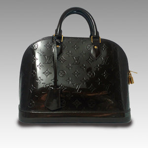 Louis Vuitton, Louis Vuitton Terre d'Ombre Monogram Vernis Alma PM Bag - CHLOEZACH