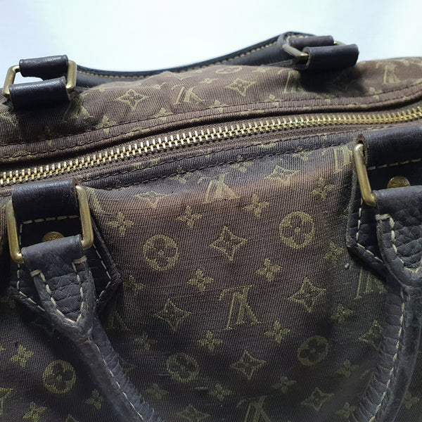 Louis Vuitton, Louis Vuitton Speedy 30 Bag in Brown Mini Lin - CHLOEZACH